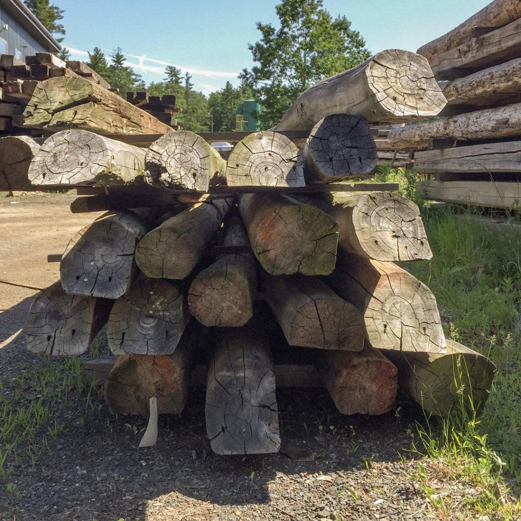 Salvaged Hemlock Sleeper Rafters