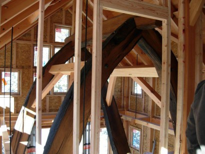 Salvaged Live Oak Timber Frame Cruxes