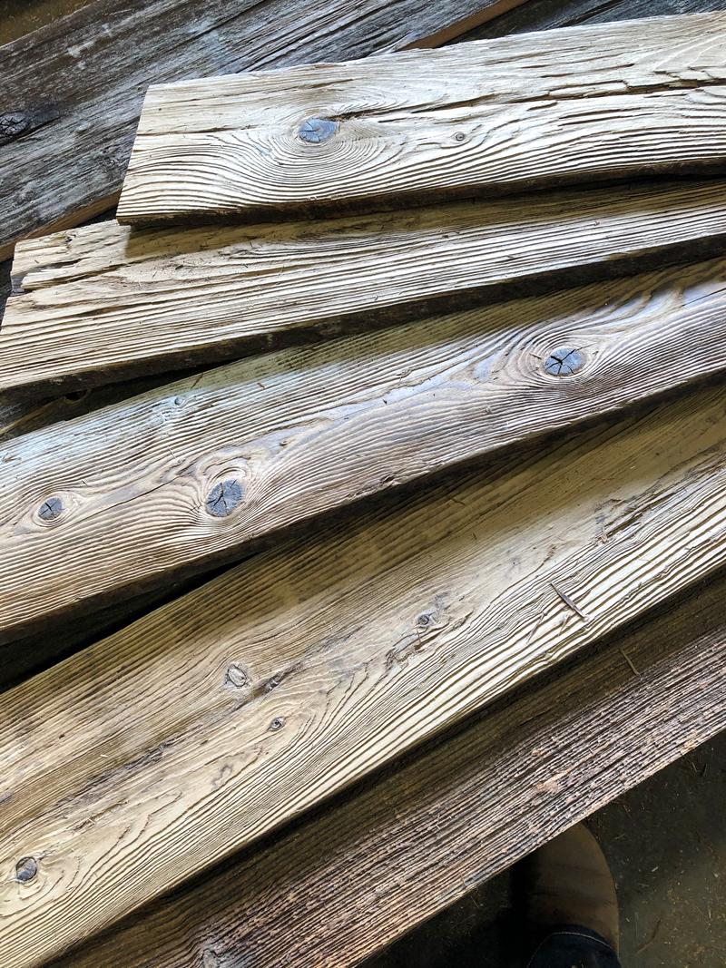 Salvaged Mushroom Wood
