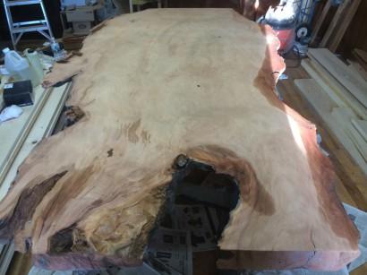 Salvaged Redwood Slab