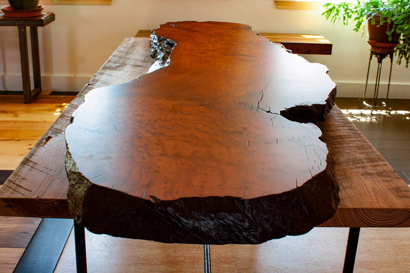 Salvaged Redwood Slab - Finished