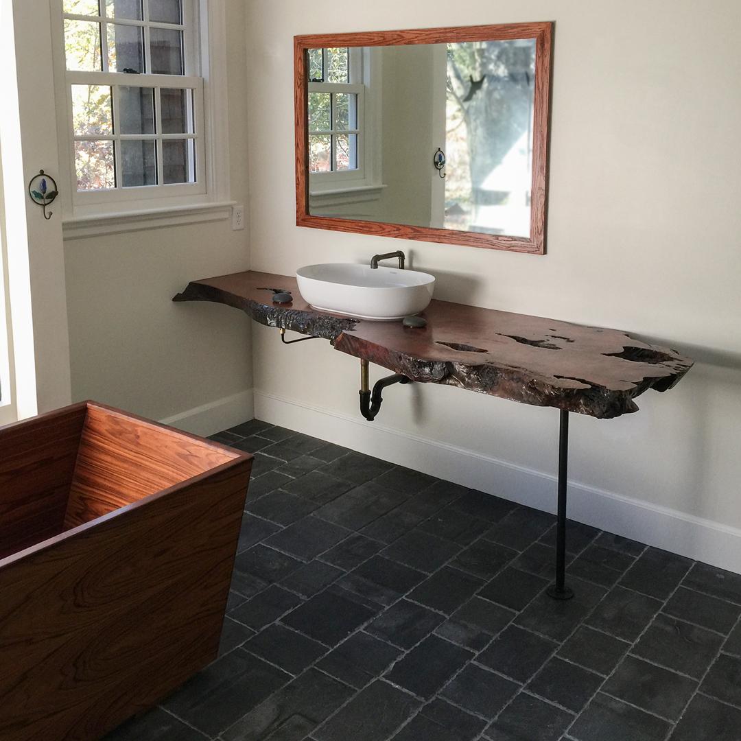 Salvaged Redwood Vanity Top