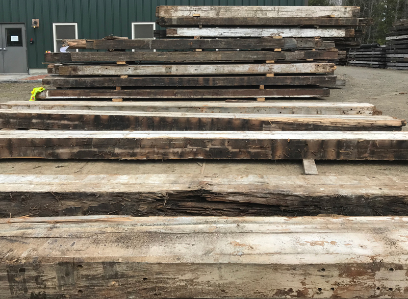 Salvaged Beams From Robertson Paper Co. in Bellows Falls, Vermont