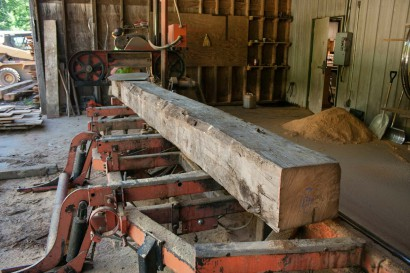 Sawing Reclaimed White Oak for the Seydel Reading Room