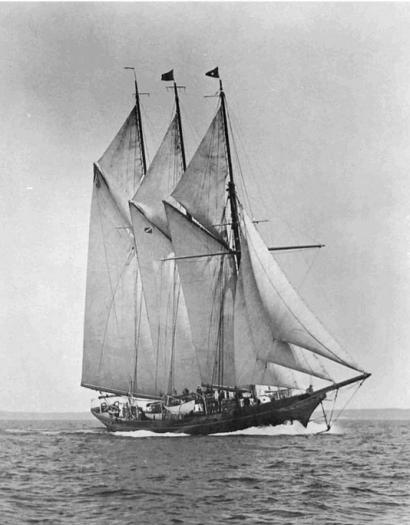 The Schooner Yacht Guinevere