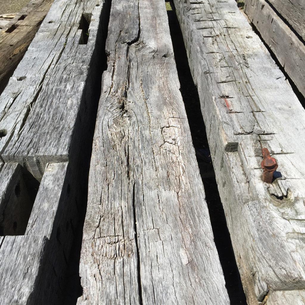 Antique Hand-Hewn Oak Beams