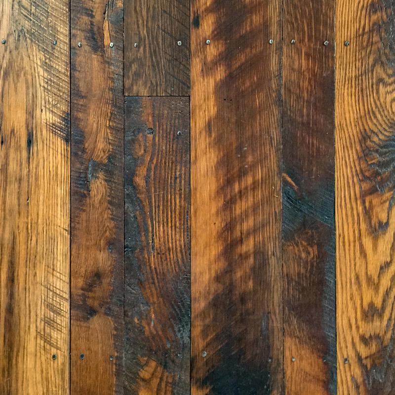 Skip-Planed Reclaimed Oak Flooring