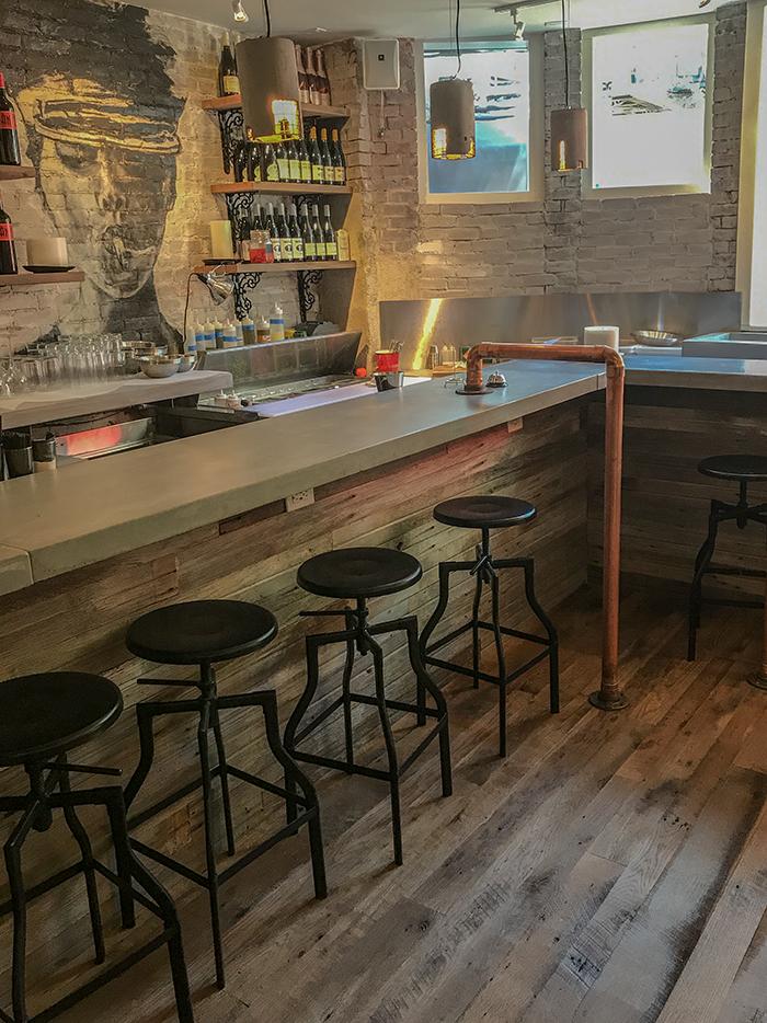 Reclaimed Skip-Planed Oak Flooring & Barn Board - Boston Restaurant
