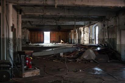 Texon Mill Building in South Hadley Massachusetts Undergoing Demolition