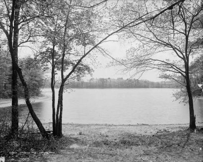 Thoreau's Cove on Walden Pond, 1908 Concord, MA