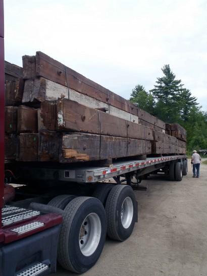 Trucking Reclaimed Heart Pine