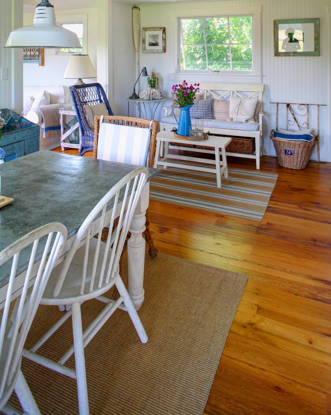 Antique White Oak Flooring. Oil-Based Polyurethane Finish