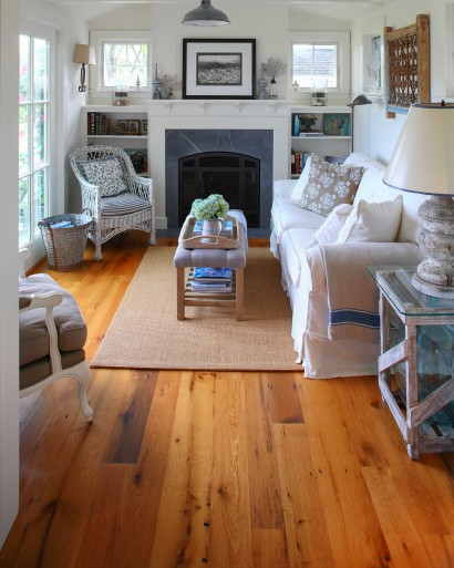 Antique White Oak Flooring. Oil-Based Polyurethane Finish