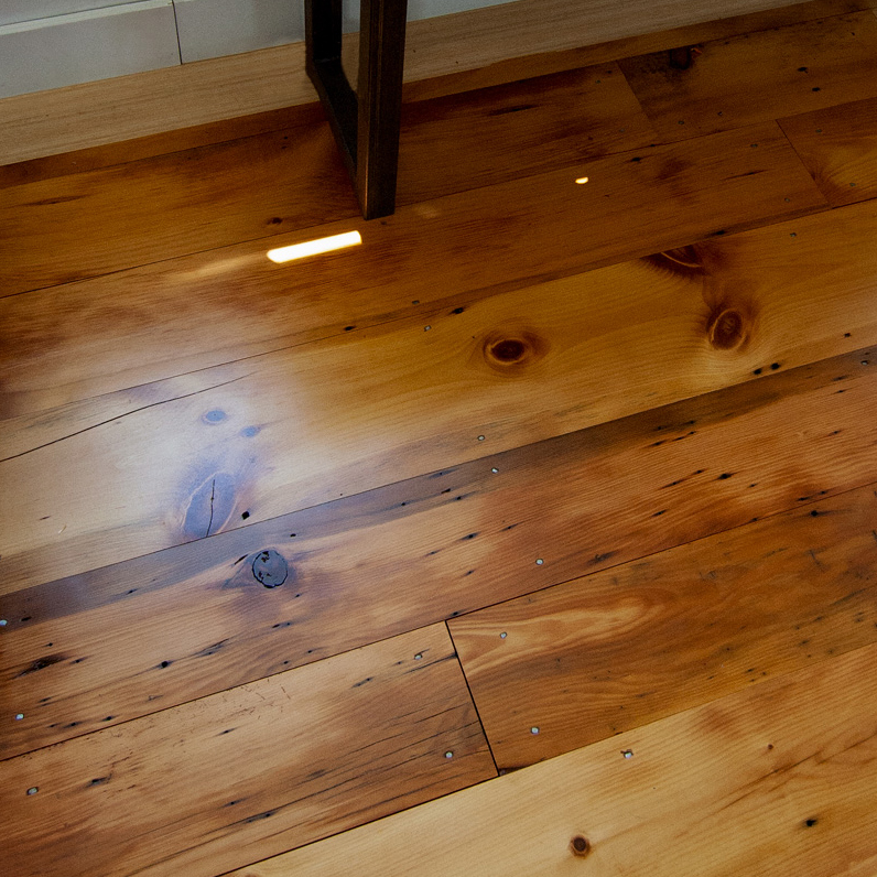 Reclaimed Rustic White Pine Finished With Tung Oil