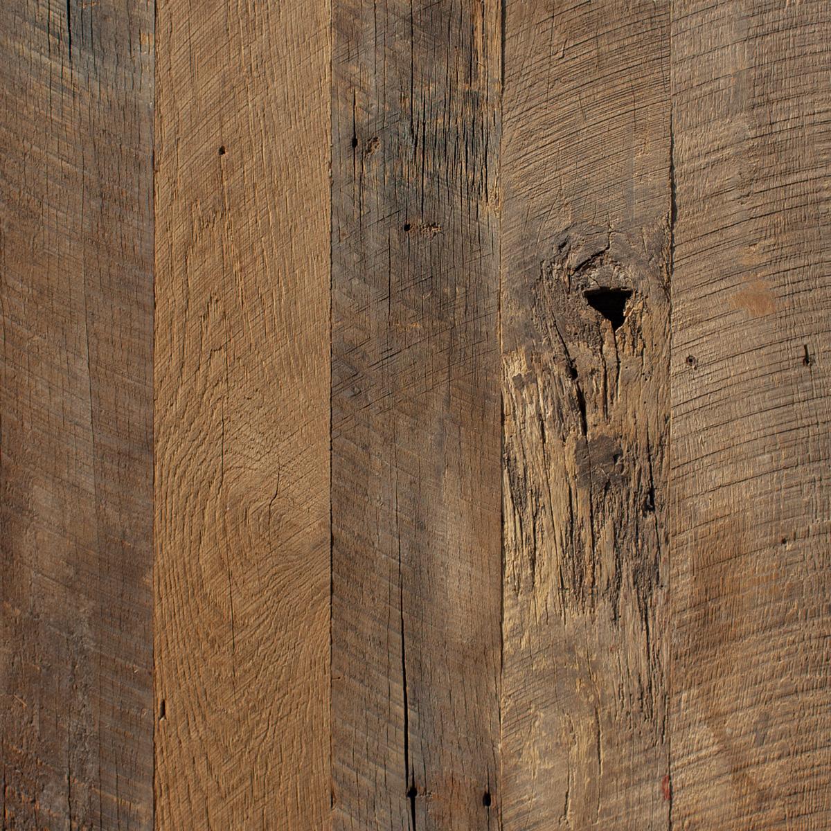 Wire-Brushed Mixed Hardwoods Paneling
