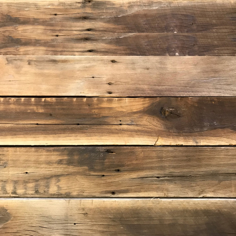 Reclaimed Wire-Brushed Poplar Paneling